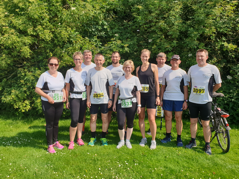 Delkeskamp News - DELKESKAMP running team at the Hasetal Marathon